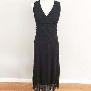 Sheri Martin Black V Sleeveless Dress